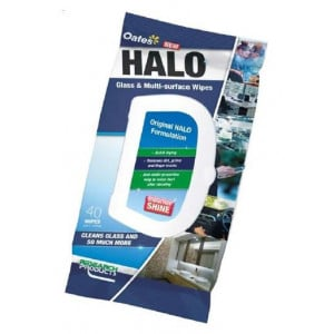 Research Halo Glass & Multi-Surface Wipes Packet of 40
