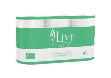 Livi Basics Toilet Paper Multi-Pack 2ply 400 Sheet Carton of 10