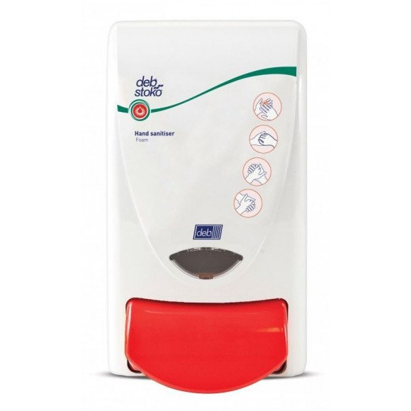 Deb Dispenser Stoko Sanitise Red & White 1L