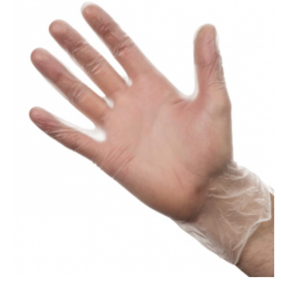 Vinyl Powder Free Disposable Gloves Clear Small Box of 100